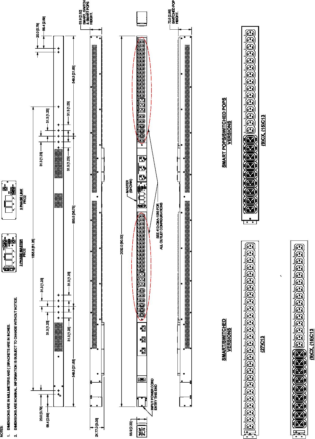 Pro2 Smart Switched C2w48ce 57kw 86kw 36 C13 12c19 L15 30 Wiring Three Phase Diagram Design Hdot Cx