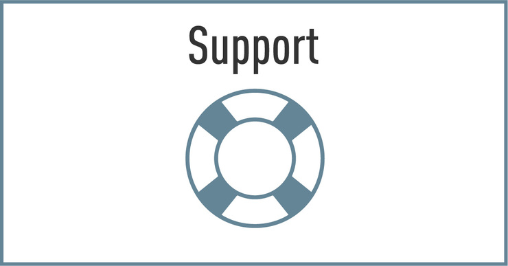 click to view support options
